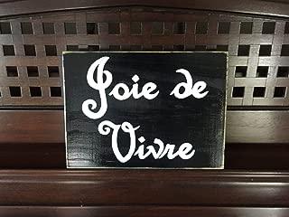 Ruskin352 Joie de Vivre French Country Decor Sign Plaque Joy Of Life Paris Apt Chic Hand Painted Wooden Sign Francophile