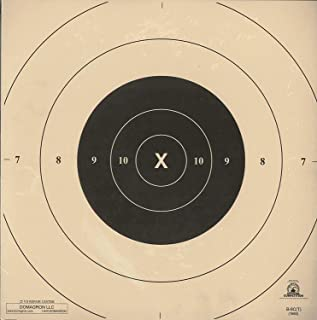 DOMAGRON 25 Yard Timed and Rapid Fire Repair Center Pistol Target Official NRA Target B-8(CT)