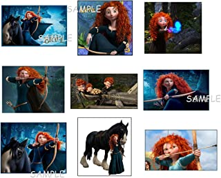 ahh101 9 Brave Inspired Stickers, Favors, Labels, Gifts, Princess Merida