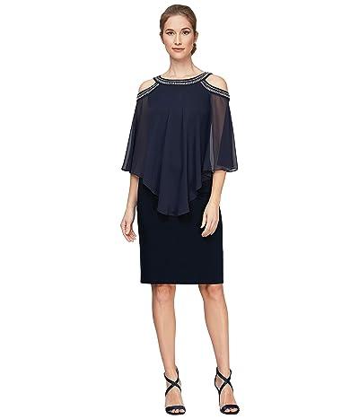 Alex Evenings Cold-Shoulder Popover Short Dress Women