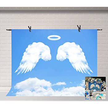 10x12 FT Backdrop Photographers,Flying Christmas Angel with Wings Playing Trumpet Mythological Ancient Artwork Background for Photography Kids Adult Photo Booth Video Shoot Vinyl Studio Props
