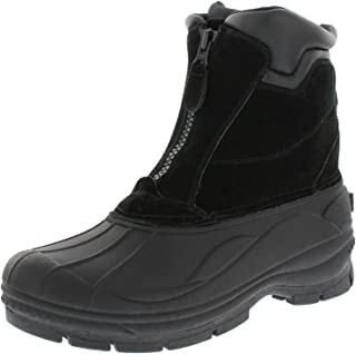 Men's Brock Zip Up Waterproof Comfortable Extra Warmth Winter-Ready Leather Boot