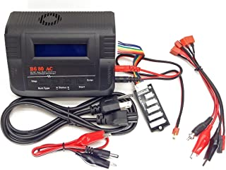B680AC Dual Power (6Amps, 80Watts): LiPo, LiIon, LiFe, NiCd, NiMh AC/DC Balancing Battery Charger w/ Deans T-Plug, JST, Futaba/Rx Receiver, Glow Plug, Alligator Clips Connectors