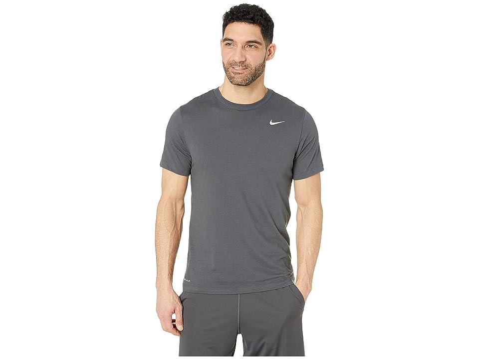 Nike Dry Tee Dri-FITtm Cotton Crew Solid (Anthracite/Matte Silver) Men