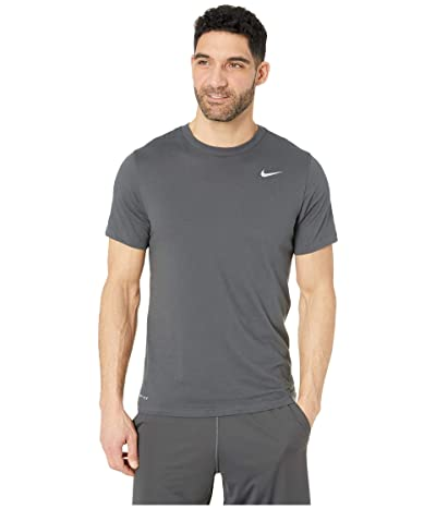 Nike Dry Tee Dri-FITtm Cotton Crew Solid (Anthracite/Matte Silver) Men