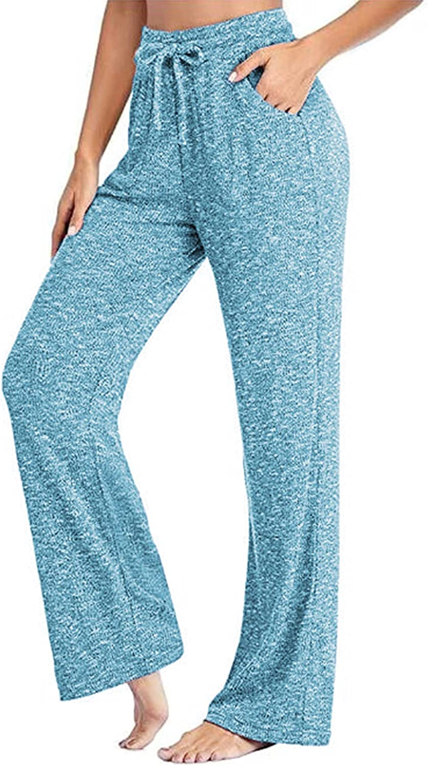 Womens Drawstring Yoga Pants Wide ! Super beauty product restock quality top! Flare Leg Palazzo Lounge Outlet ☆ Free Shipping