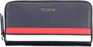 Tommy Hilfiger Women's Staple Large Za Wallet, Blue - AW0AW08013