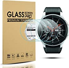 Diruite 4-Pack for Samsung Galaxy Watch 46mm Screen Protector Tempered Glass for Galaxy 46mm Watch, SM-R800 [2.5D 9H Hardness] [Anti-Scratch] - Lifetime Replacement