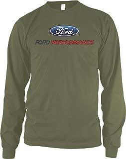 Amdesco Men's Ford Performance Logo, Officially Licensed Long Sleeve Shirt