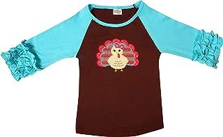 Smocking Bee Baby Toddler Little Girls Fall Winter Holidays Halloween Thanksgiving Christmas Ruffles Raglan T-Shirt Fashion Tee Top