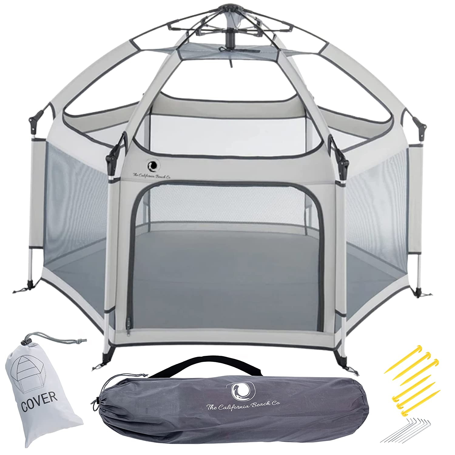 Pop 'N Go Portable Playpen - Lightweight, Folding, Easily Collapsible Play Yard Crib for Indoor & Outdoor Play - Perfect Canopy Play Pen for Any Baby Toddler or Small Child (Cosmic Grey)
