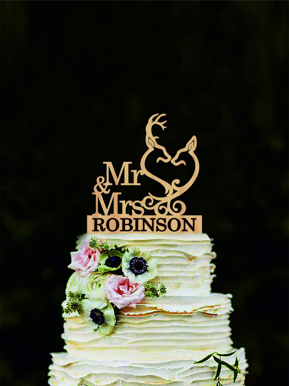 Personalized Wedding Decoration Doe After All This Time? Always CAKE TOPPER Custom Orders Welcome. Deer