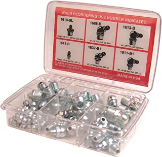 Alemite 2365-1 48 Piece Pocket Pack Fitting Assortment, Contains Six Types of Fittings