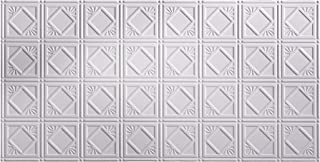 FASÄDE Easy Installation Traditional Style/Pattern #4 Matte White Glue Up Ceiling Tile/Ceiling Panel (One 2' x 4' Tile)