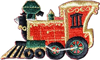 Christmas CHO CHO Train Embroidery Iron On Applique Patch #3148
