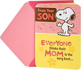 Hallmark Funny Mother's Day Card from Son (Snoopy)