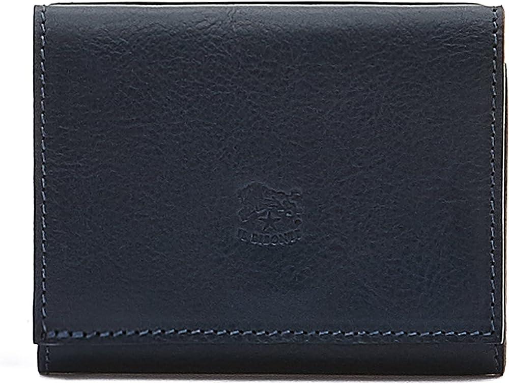Il bisonte portafoglio porta carte di credito unisex in vera pelle SMW036PV0005BLU