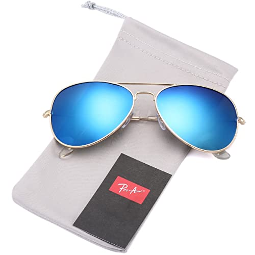 4200523a73 Pro Acme Classic Polarized Aviator Sunglasses for Men and Women UV400  Protection