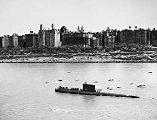 Submarine Uss Nautilus Nthe Uss Nautilus Ssn-571 The WorldS First Nuclear Submarine Photographed In New York Harbor 1956 Poster Print by (18 x 24)