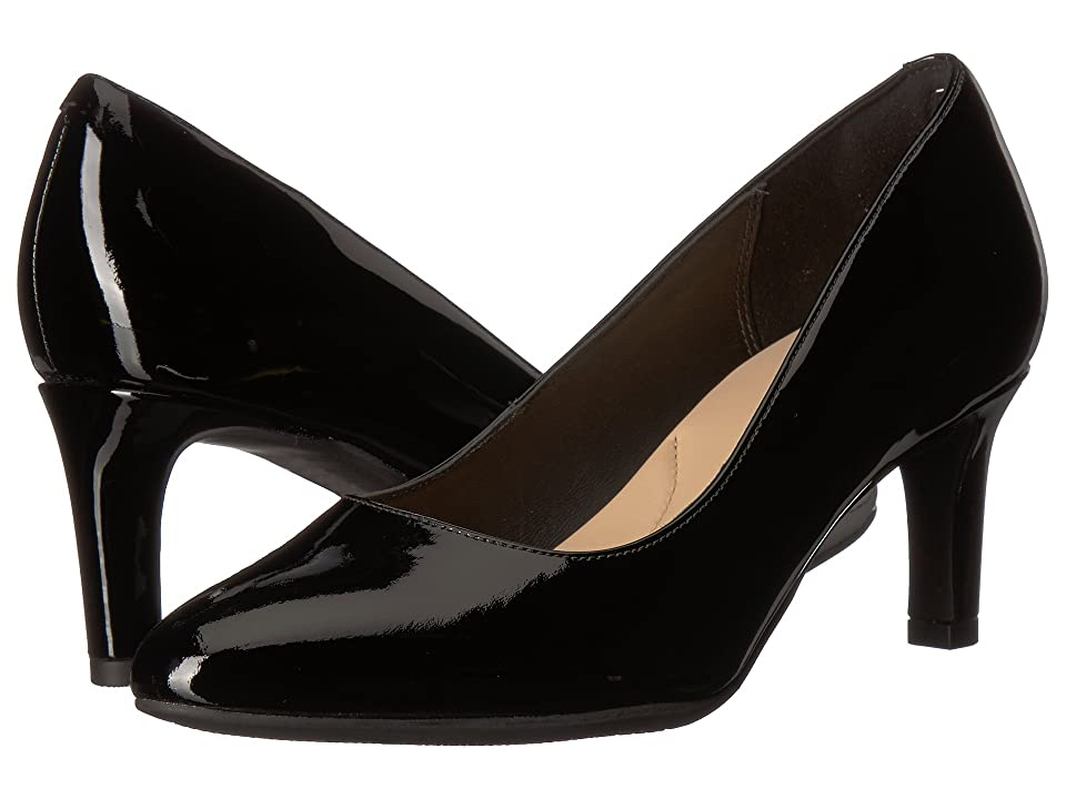 Clarks Calla Rose (Black Patent Leather) High Heels