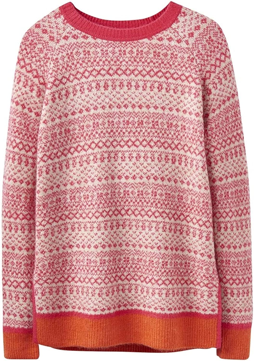 Joules Womens Justina Fair Isle Hem Sweater