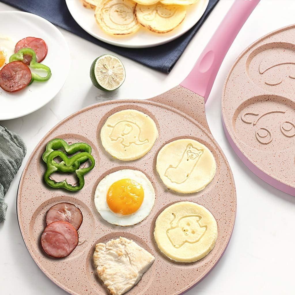 SGSG Pan de Petit déjeuner/poêle antiadhésive Pan Multifonction antiadhésif 7 Trous Oeuf au Plat boulette Moule artefact approprié pour cuisinière à gaz A