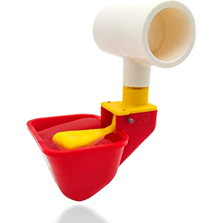 GOODCHOISE Chicken Drinker Cup with Float Poultry Waterer Drinking Cup for Chicken No Peck Automatic Chicken Waterer 4 Peck Drinker Cup for Chicken Duck Quail
