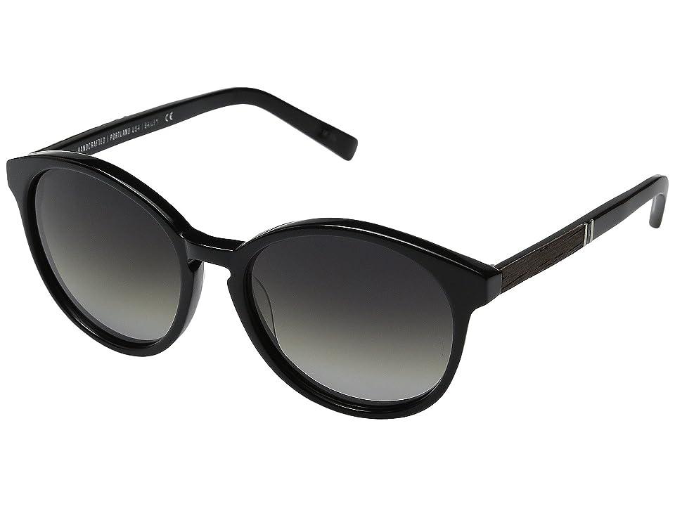 Shwood Bailey (Black/Ebony/Grey Fade Polarized) Fashion Sunglasses