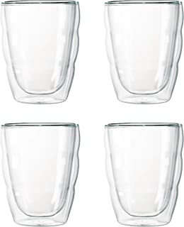 BODUM ボダム PILATUS ピラトゥス ダブルウォール グラス 250ml ファミリーセット (4個入り) 【正規品】 K10484-10J