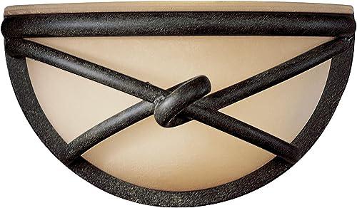 new arrival Minka Lavery Wall Sconce Lighting online 971-138, Aspen II Glass Wall Lamp online Fixture, 1 Light, 60 Watts, Bronze outlet online sale