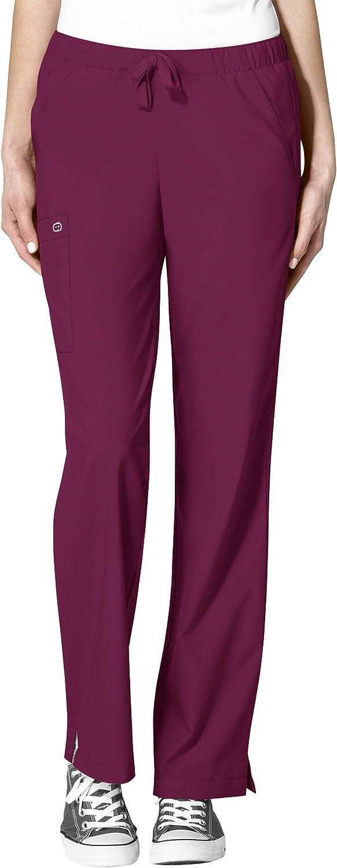 WonderWink 'Women's Drawstring Pant' Scrub Max 72% OFF Bottoms Wine 3X-Lar Opening large release sale