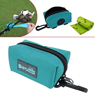 Petopt Dog Poop Bag Holder Leash Attachment,Heavy Duty Waterproof, Fits Any Dogs Running,Walking,Hiking Accessory