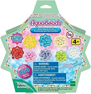 Aquabeads - La Recharge Perles Étoiles - 31603 - Recharge Perles Assorties - Loisirs Créatifs