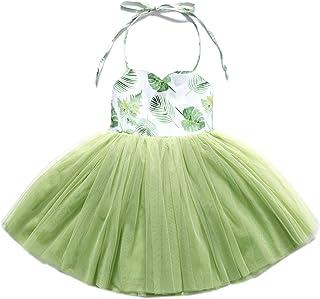 Flofallzique Baby Girls Dress Pink Toddler Tutu Tulle Wedding Tea Party Tulle Fancy Infant Dress
