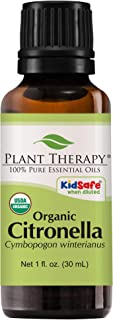 Plant Therapy Citronella Organic Essential Oil 100% Pure, USDA Certified Organic, Undiluted, Natural Aromatherapy, Therapeutic Grade 30 mL (1 oz)