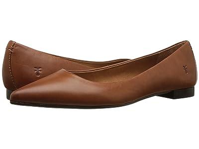 Frye Sienna Ballet (Saddle Polished Soft Full Grain) Women