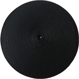 QIANF Eco Friendly Twill Tape Ribbon 100% Cotton Black 5/8 Inch Wide 50 Yard Roll Herringbone Tape(5/8 Inch-50Yard, Black)