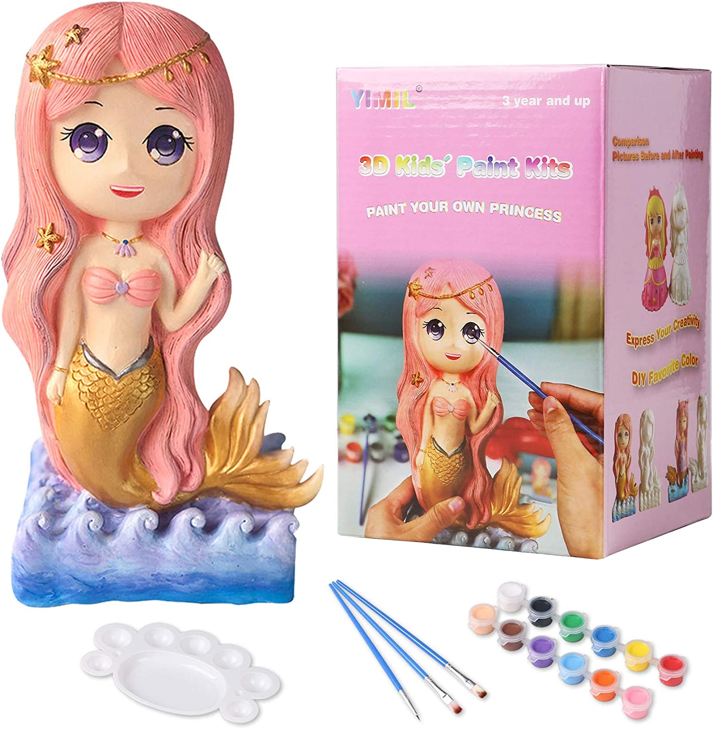 YIMIL Paint Your Own Mermaid for online shop Price reduction Craft Kit Painting