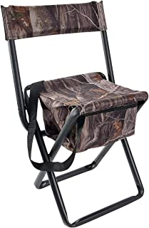 Allen Company Camouflage Folding Hunting Stool with Back...