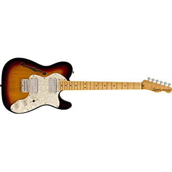 Squier by Fender Classic Vibe 70's Telecaster Thinline Electric Guitar - Maple - 3-Color Sunburst