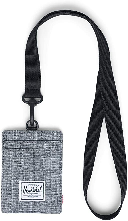 Raven Crosshatch Lanyard/Black