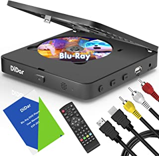 [Upgrade] Mini Blu-Ray DVD Player, HD Blue Ray Disc Player, 1080P Home Theater Video DVD Player with HDMI AV Output, Suppo...