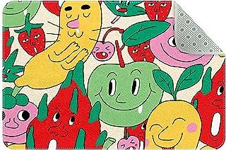 Doormat Custom Indoor Welcome Door Mat, Cute Cartoon Fruit Home Decorative Entry Rug Garden/Kitchen/Bedroom Mat Non-Slip R...