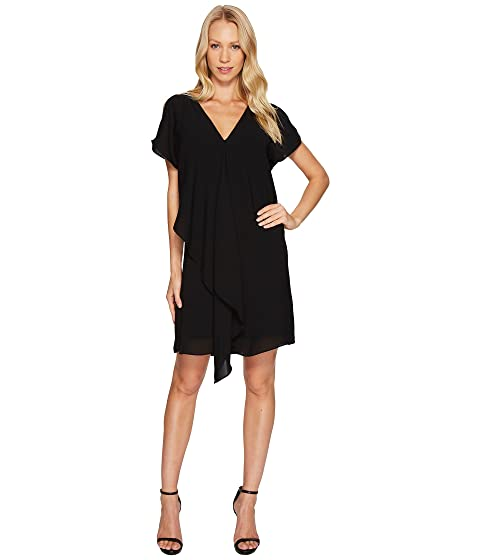 Cold Shoulder Asymmetrical Draped Dress