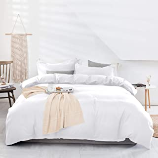 Estoulen Duvet Cover Full / Queen Size, 100% Washed Microfiber Bedding Set 3 Piece, Soft and Luxury Solid Color Duvet Cove...
