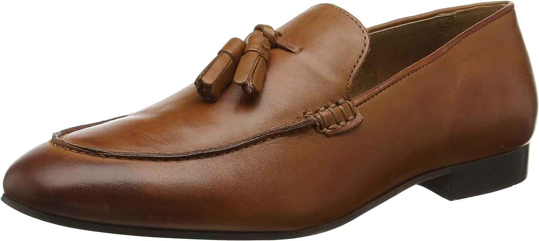 Hudson Bolton Mens Tan Calf Loafers