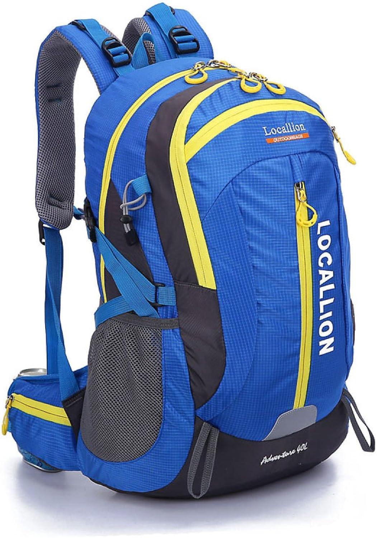 Neuer Lssige Kleidung Sport Bergsteigen Rucksack Gro Kapazitt Reise Tasche 40L,Blau-OneGröße