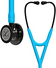 3M Littmann Cardiology IV Diagnostic Stethoscope,  Smoke-Finish Chestpiece, Turquoise Tube, Smoke Stem and Headset, 27 inch, 6171