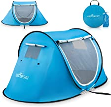 Pop Up Tent - Automatic Instant Tent - Portable Cabana Beach Tent - Fits 2 People - Windows and Doors on Both Sides - Wate...