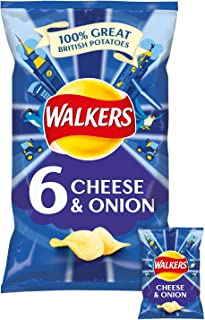 Walkers Crisps - Cheese & Onion (6x25g)